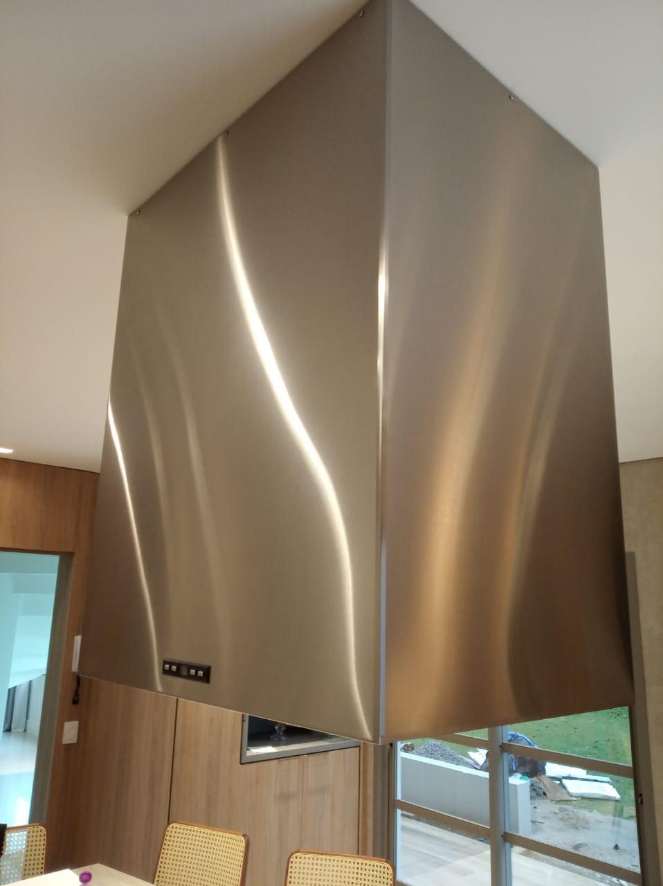 Coifa Ilha Quadrada inox 45cm - Art & Design Premium