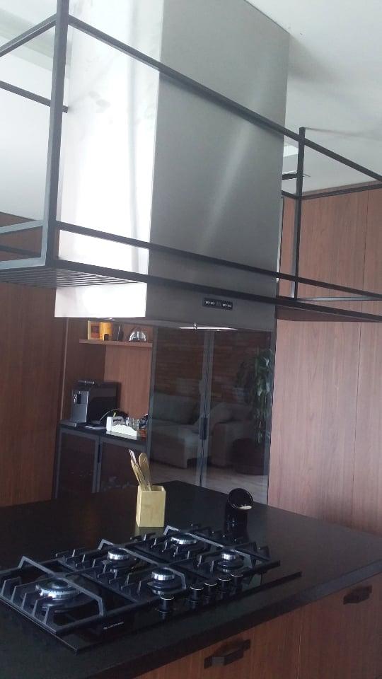 Coifa Ilha quadrada inox 304 medida 45cm - Design Steel