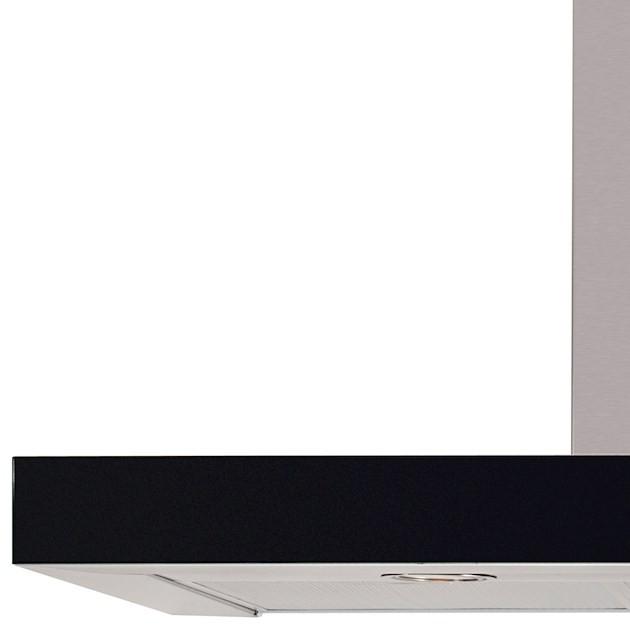 Coifa Parede Elettromec Ravenna Inox e Vidro Touch 90cm