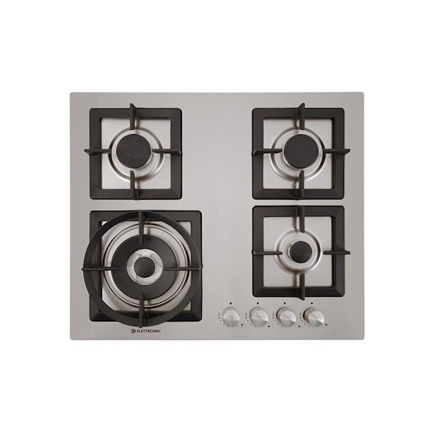 Cooktop a Gás Quadratto inox 4 Queimadores 60cm - Elettromec