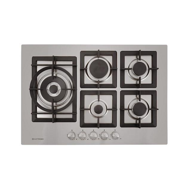 Cooktop Elettromec a Gás Quadratto inox 5 Queimadores 75cm - 220v
