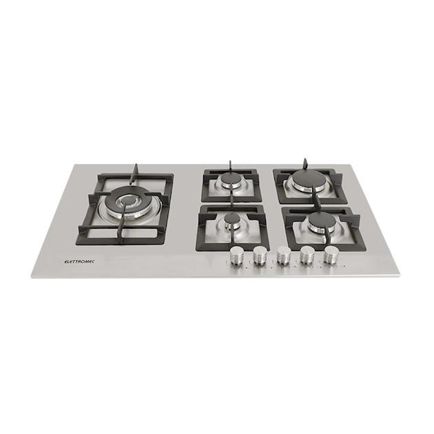 Cooktop Elettromec a Gás Quadratto inox 5 Queimadores 90cm - 220v
