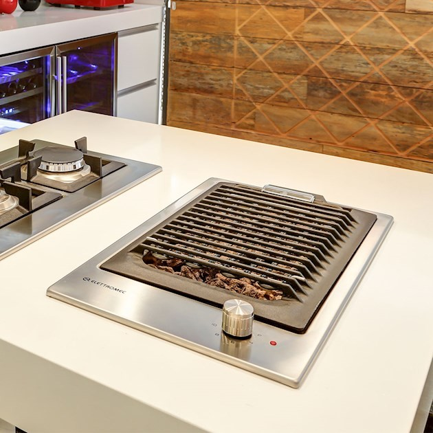 Dominó Elettromec Elétrico Quadratto Barbecue 30cm - 220v