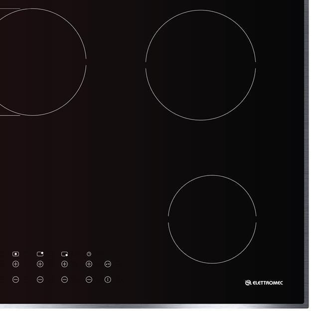 Cooktop  Elétrico Vitrocerâmico 5 Queimadores 90cm - Elettromec