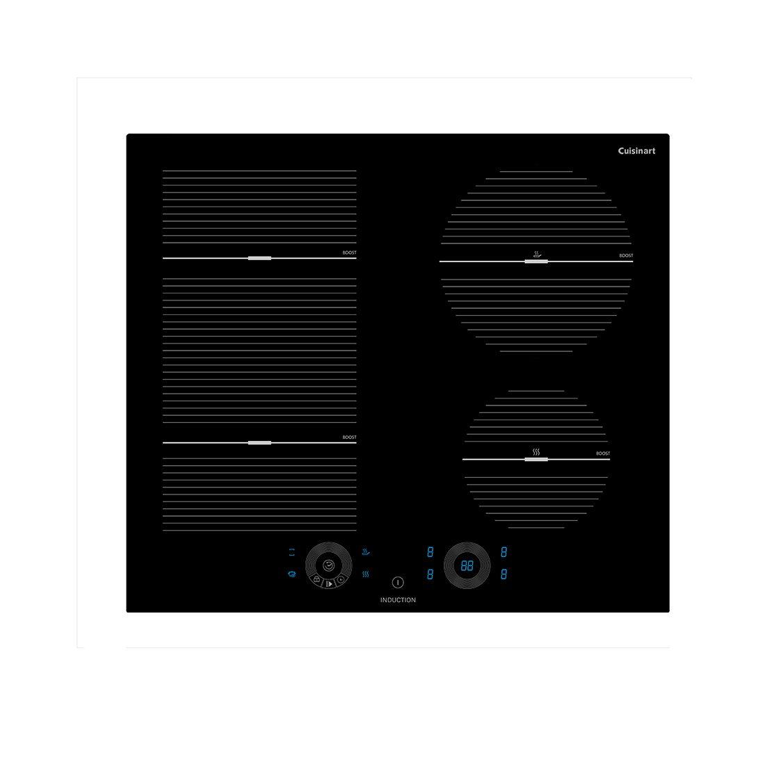 Cooktop preto inducção linha Arkton 4 Queimadores  - Cuisinart