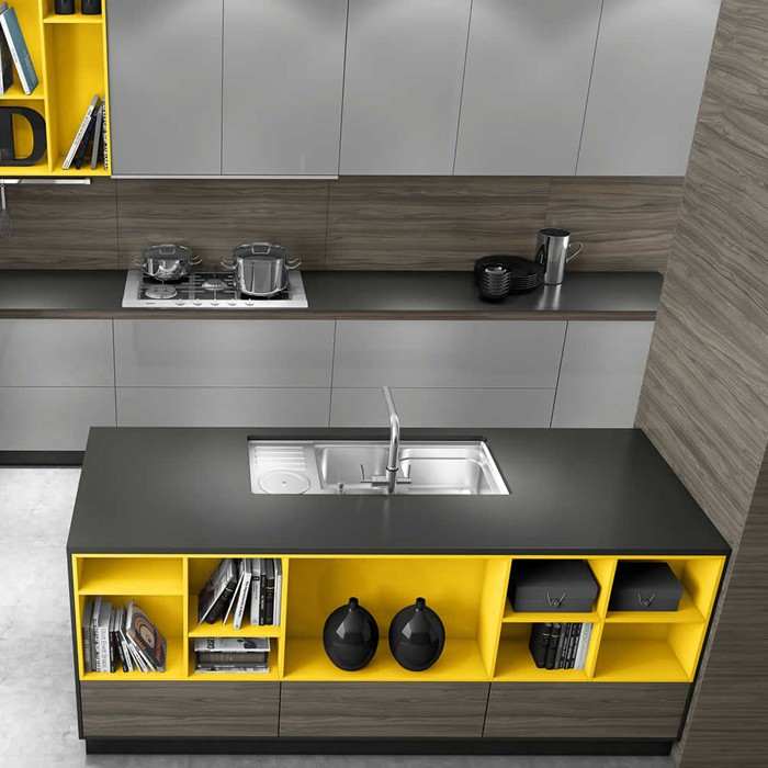 Cuba para Cozinha Funzionale Inox 92x45 - DeBacco