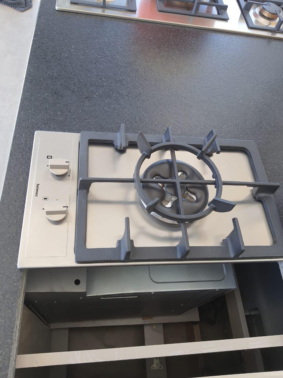 Domino a gás 1 Bocas Tripla Chama Inox Gusa 30cm - Falmec