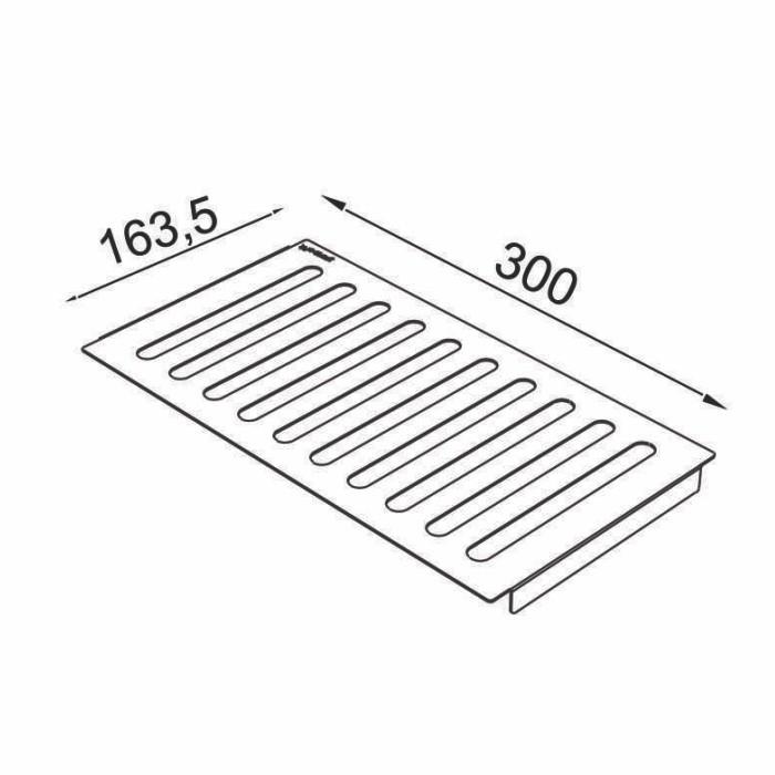 Escorredor Inox para Calha Úmida 300 mm