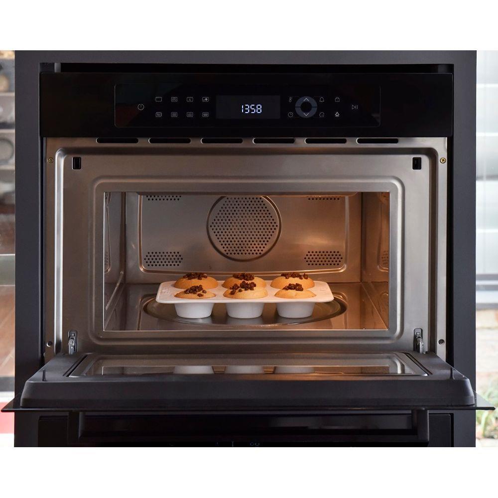 Forno combinado 38 litros micro-ondas + forno elétrico  preto 45cm  - Spacy