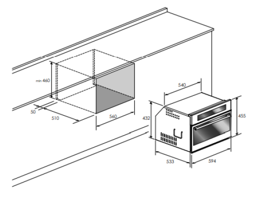 Forno Combinado  Professionale Elétrico+Micro-ondas 10F | 34L | 60cm - Elanto