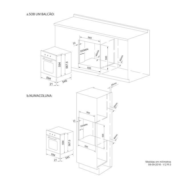 Forno Elétrico Elettromec Massima Multifunção Pop Up 67 Litros 60cm - 220v
