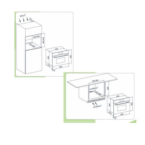 Forno Micro-ondas Arkton com Grill Elétrico Inox 60cm 38 Litros - Cuisinart