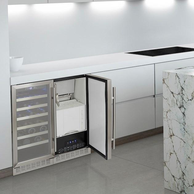 Maquina de gelo (Ice Maker ) inox Built-In - 127v - Elettromec