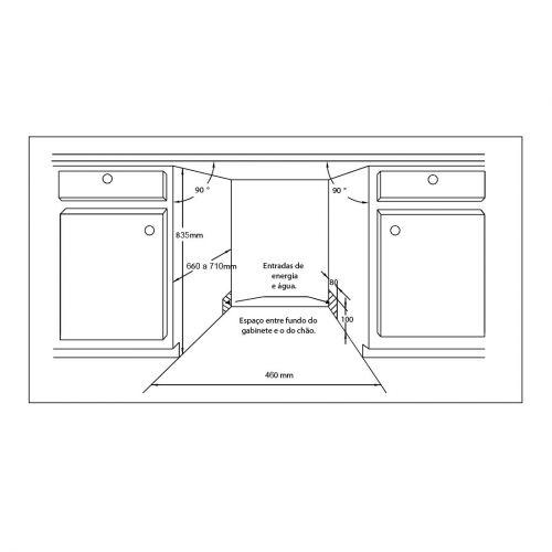 Lava Louças de Embutir  Casual Cooking 6 Programas Inox 45cm - Cuisinart