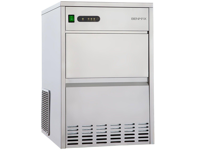 Máquina de Gelo Super Ice Produção até 26kg - Armazenamento até 7kg Inox -Benmax