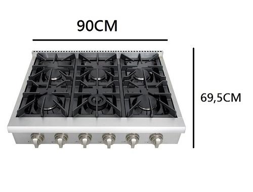 Rang top Estilo Profissional inox 90cm 220v - CookerHood