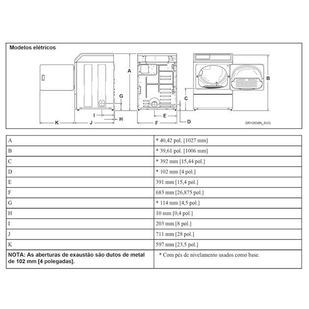 Secadora de Roupas Elétrica 10,5Kg Inox - 220v - Speed Queen
