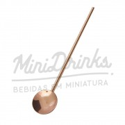 Colher Canudo Coquetel Inox Bronze 20cm Mimo Style