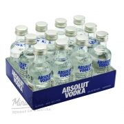 Pack 12 Un Mini Vodka Absolut Natural 50ml