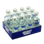 Pack 24 Un Mini Vodka Absolut Natural 50ml