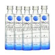 Pack 5 Un Mini Vodka Ciroc Natural 50ml