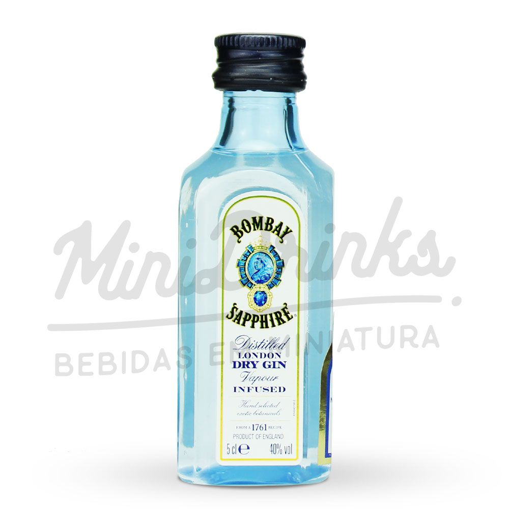 Kit 6 Un Mini Gin Bombay Sapphire 50ml + 3 Un BeGin Especiarias para Gin