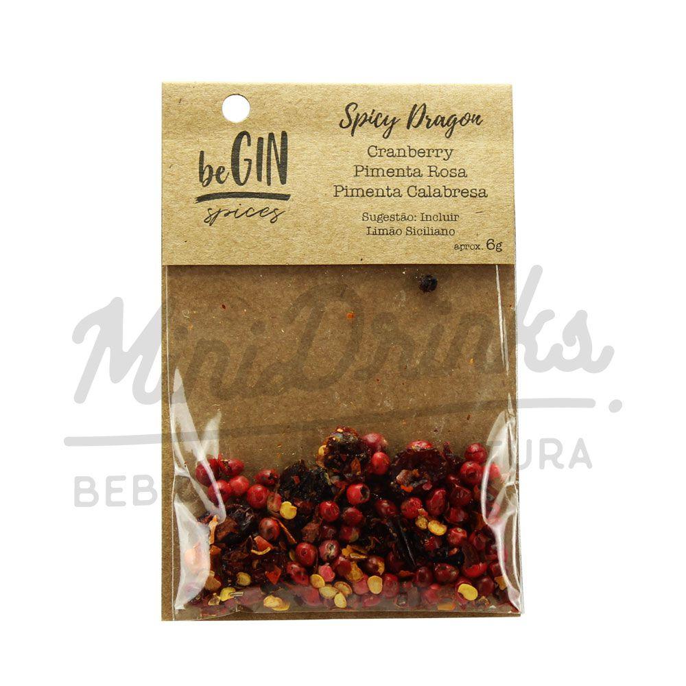 Kit 6 Un Mini Gin Bombay Sapphire 50ml + 3 Un BeGin Especiarias para Gin