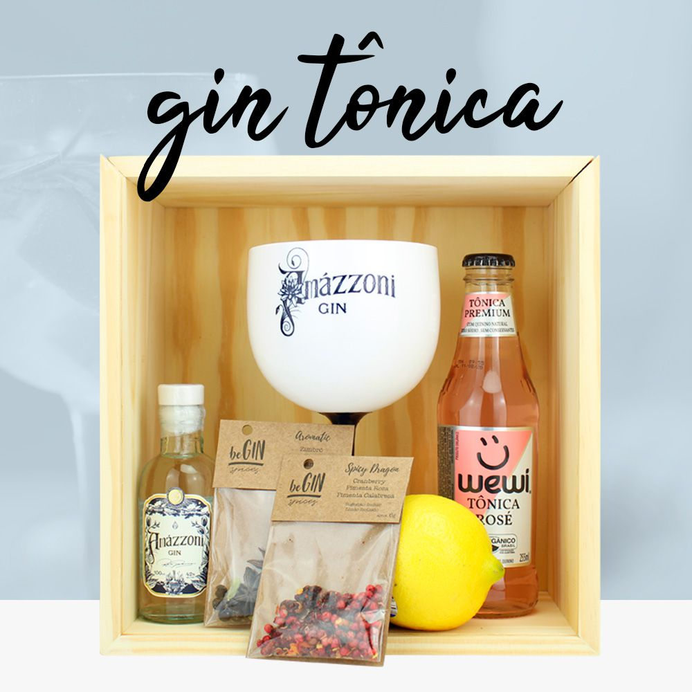 Kit Minidrinks Box Selection Gin Tônica Amázzoni