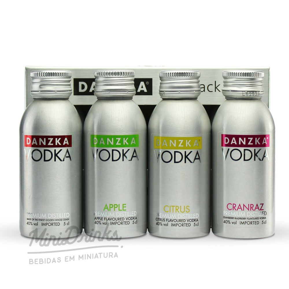 Kit Minipack Vodka Danzka 4x50ml