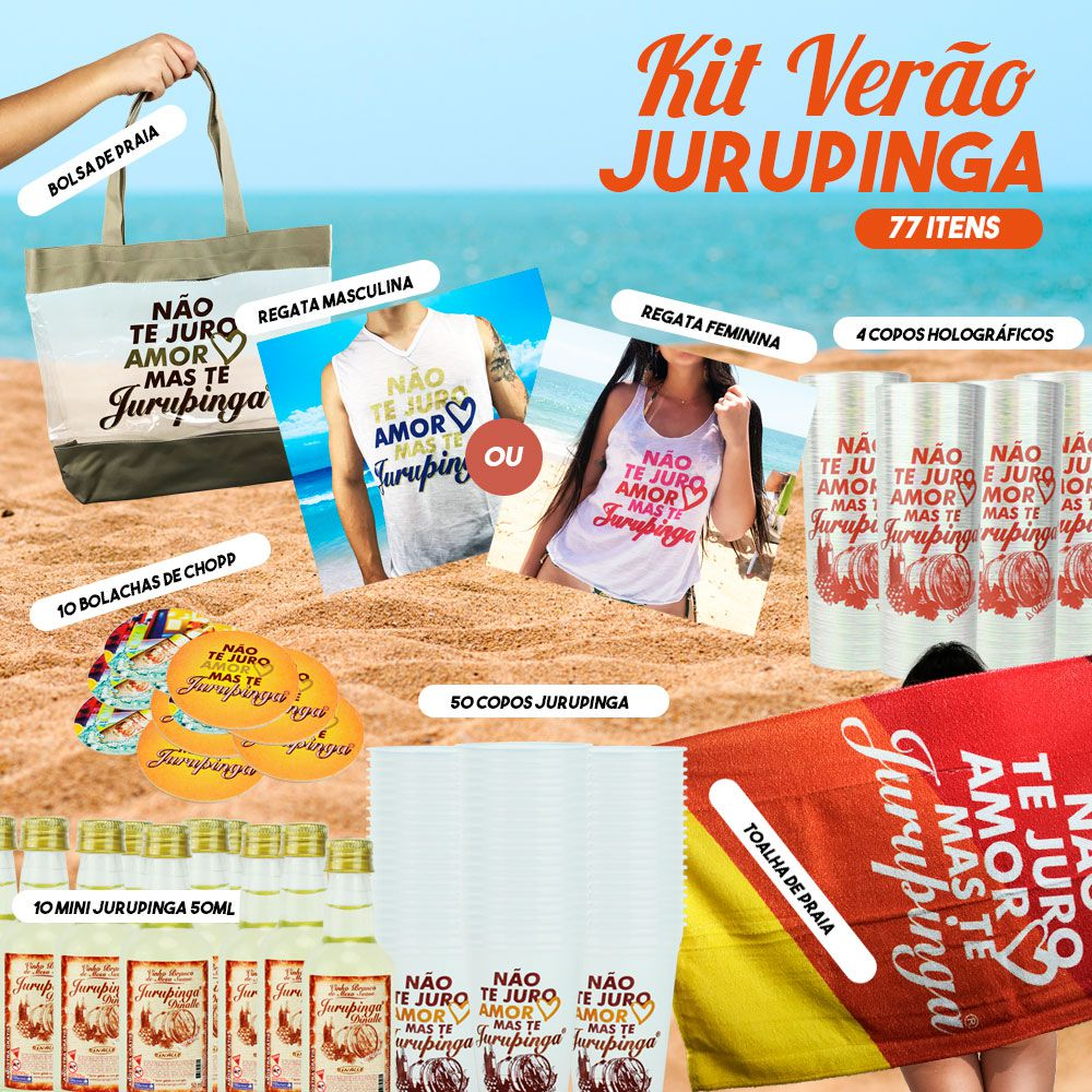 Kit Verão Jurupinga + Brindes