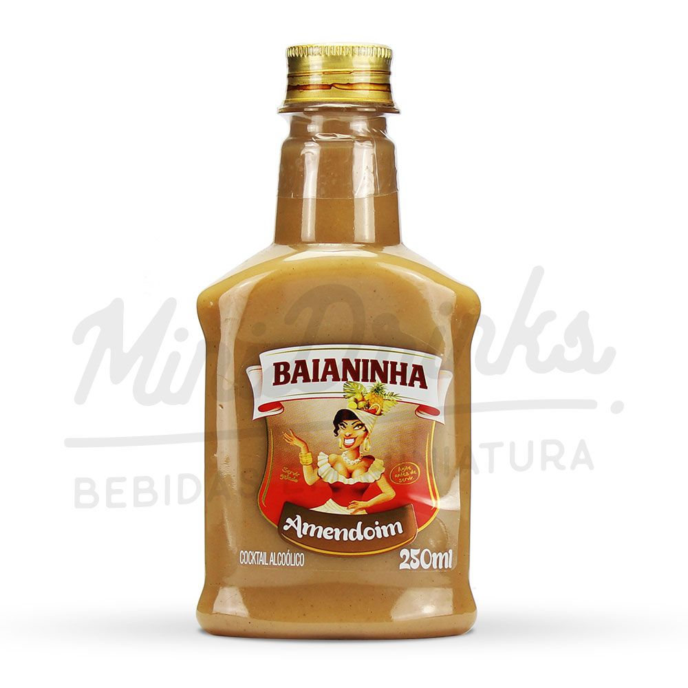 Mini Batida Baianinha Amendoim Petaca 250ml