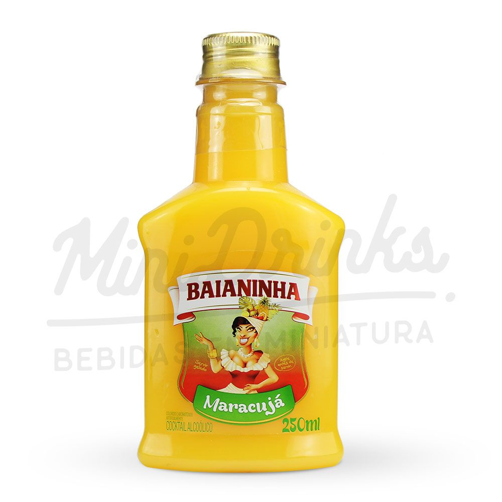Mini Batida Baianinha Maracuja Petaca 250ml