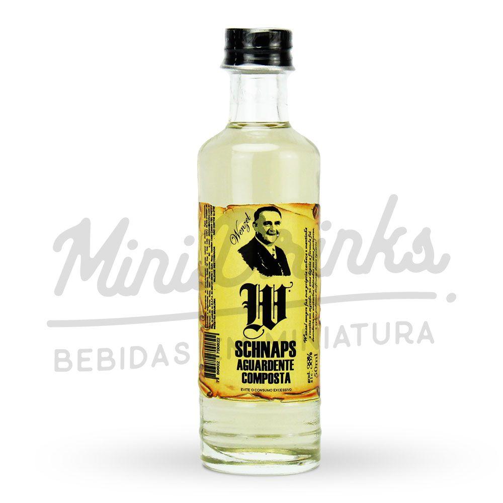 Mini Cachaça Schnaps Wenzel Doble W 50ml