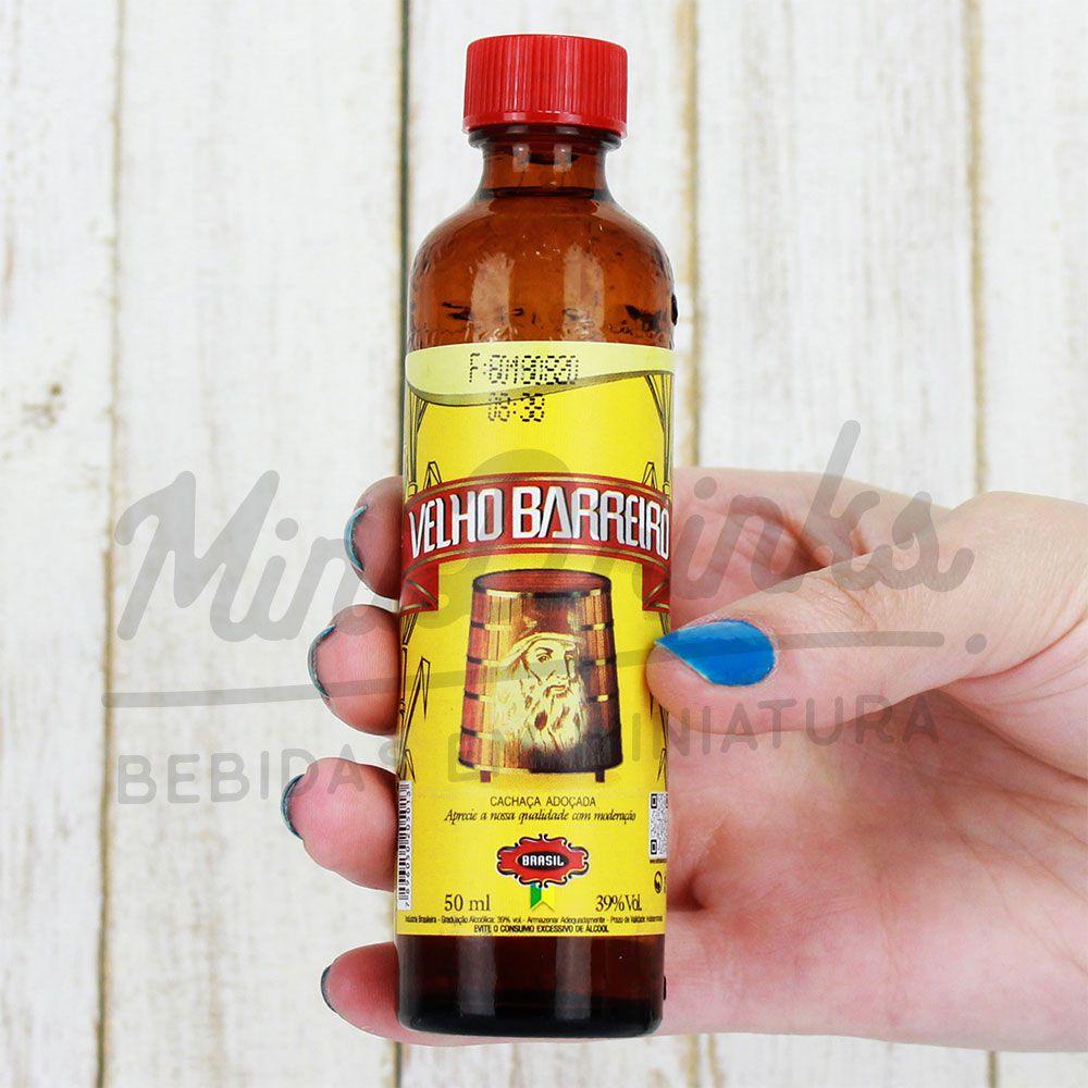 Mini Cachaça Velho Barreiro 50ml