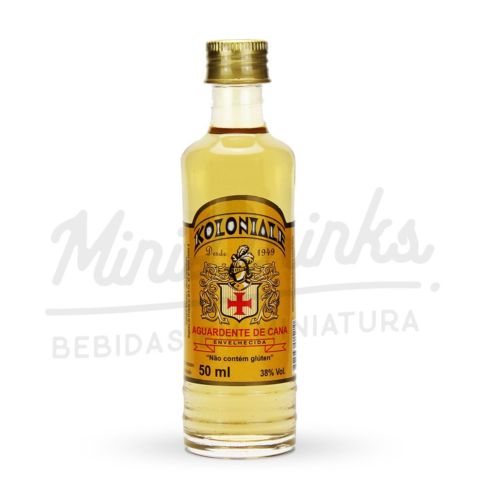 Mini Cachaça Von Blumenau Koloniale Envelhecida 50 ml