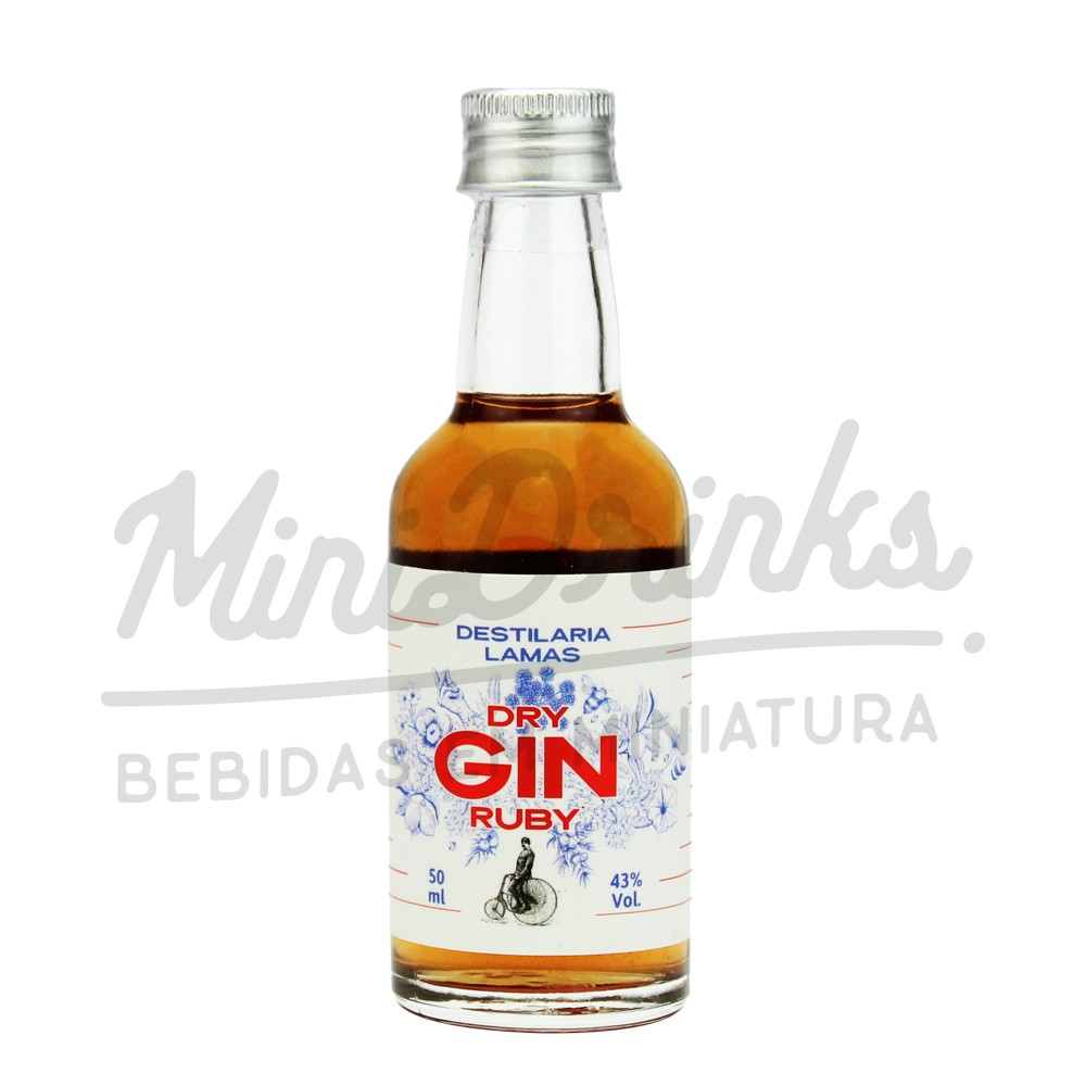 Mini Gin Lamas Ruby 50ml