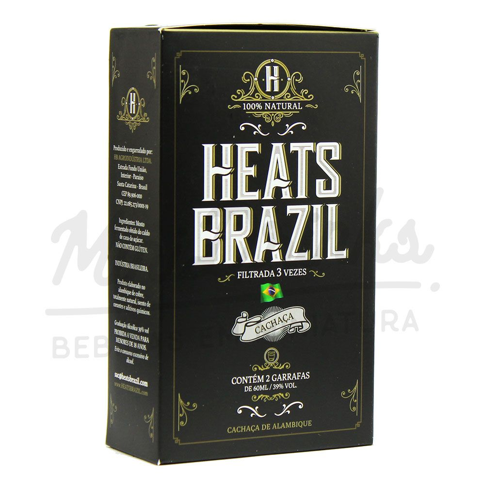 Mini Kit Cachaça Heats Brazil 2x60ml