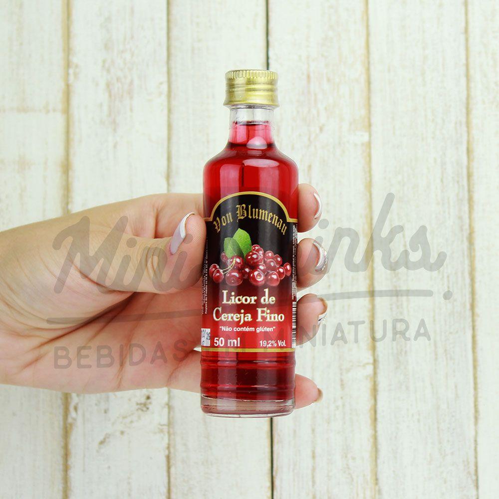 Mini Licor Von Blumenau Cereja 50ml