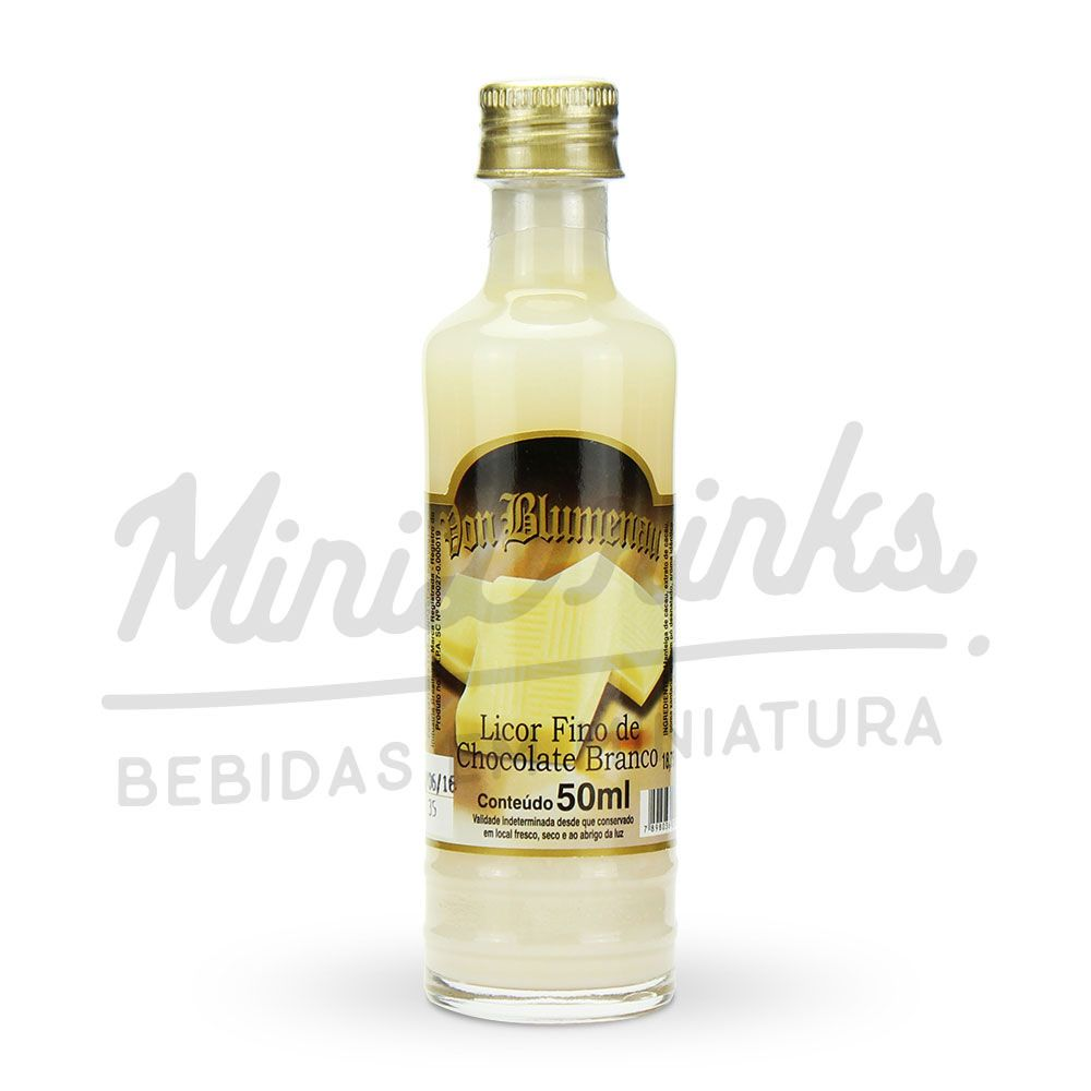 Mini Licor Von Blumenau Chocolate Branco 50ml