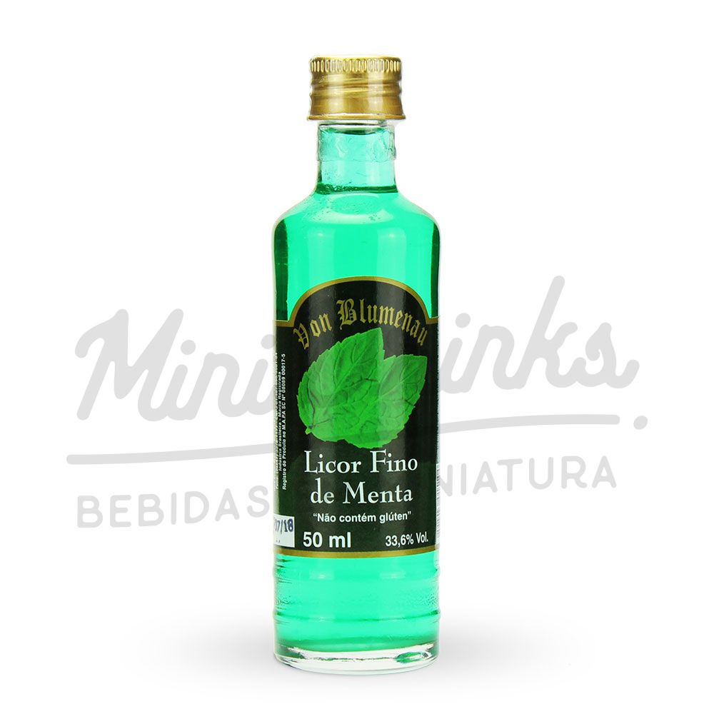 Mini Licor Von Blumenau Menta 50ml