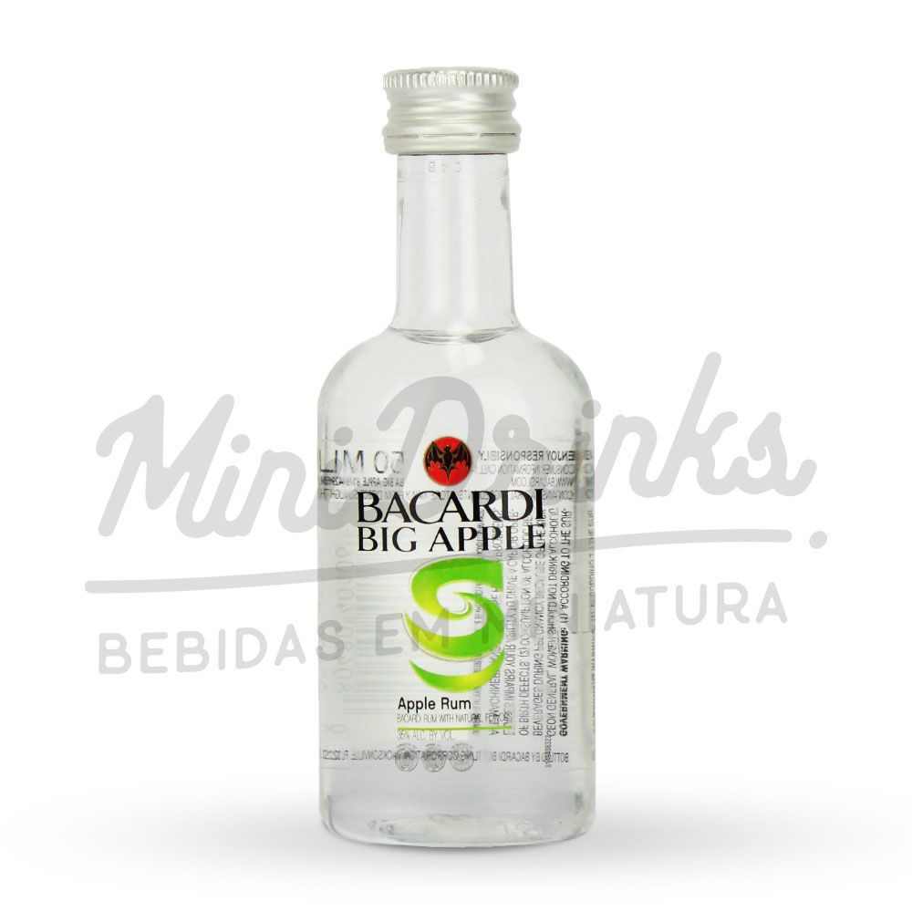 Mini Rum Bacardi Big Apple 50ml
