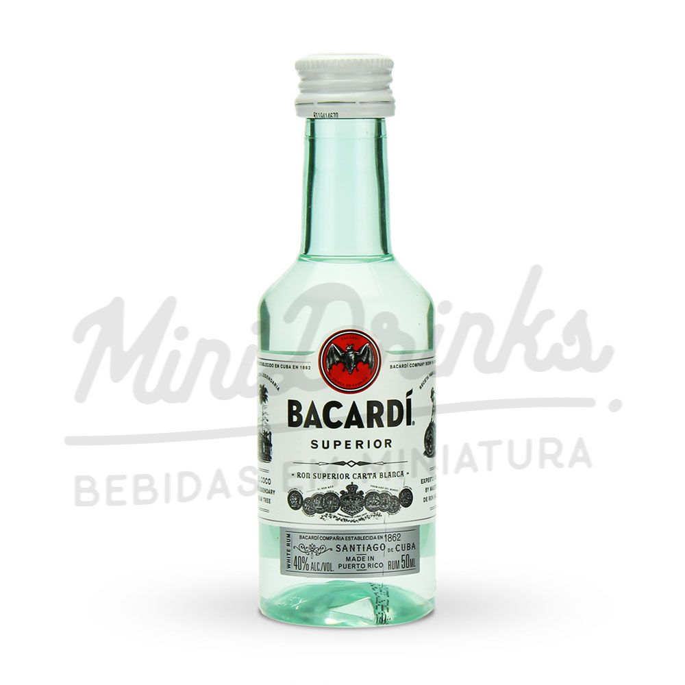 Mini Rum Bacardi Carta Blanca 50ml