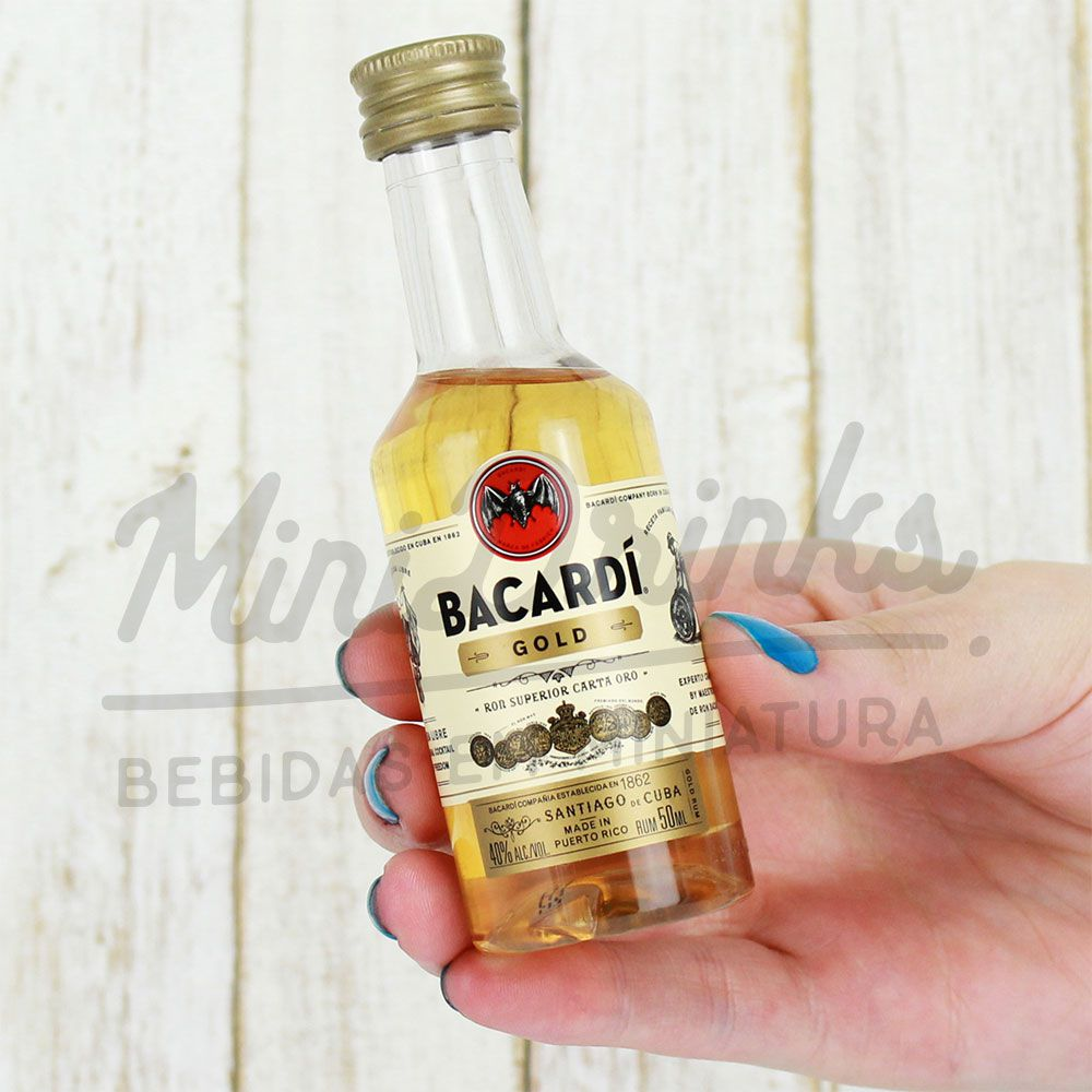 Mini Rum Bacardi Gold 50ml