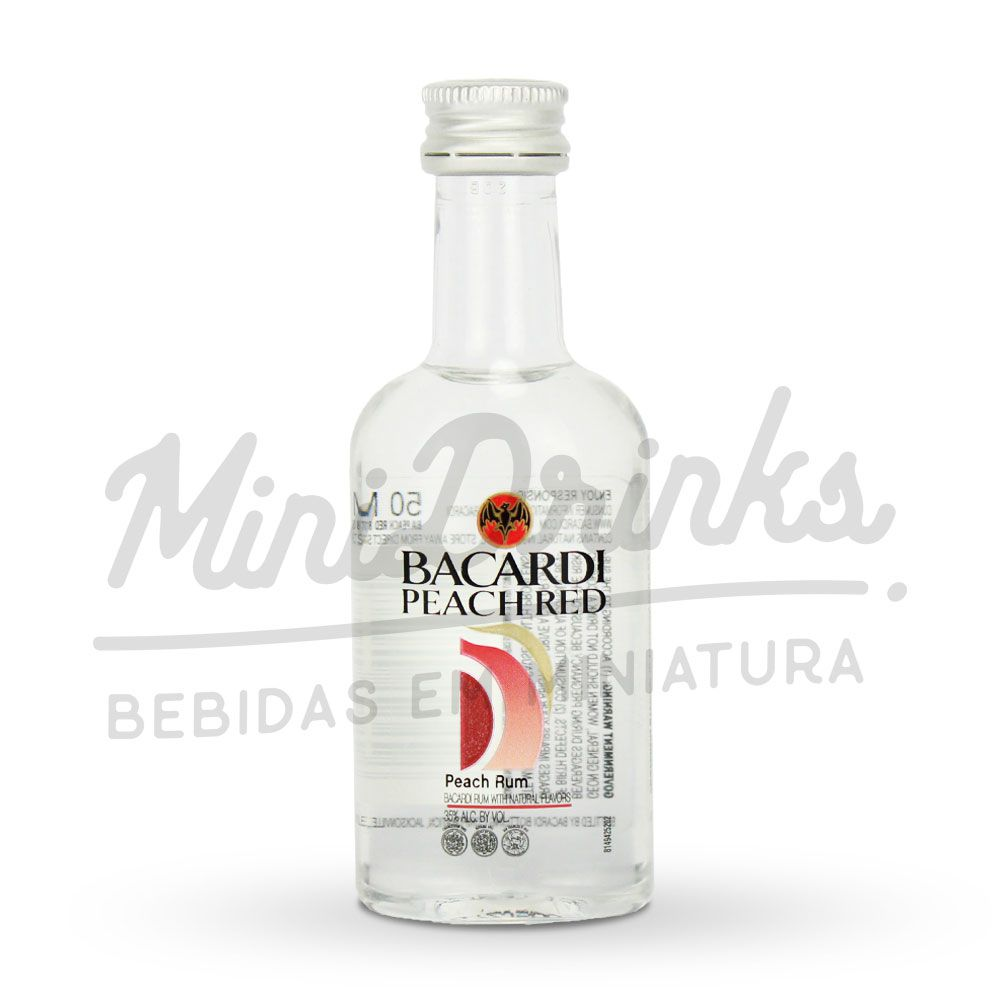 Mini Rum Bacardi Peach Red 50ml