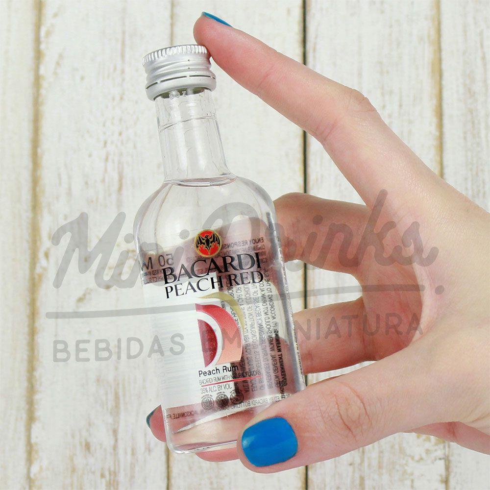 Mini Rum Bacardi Peach Red 50ml