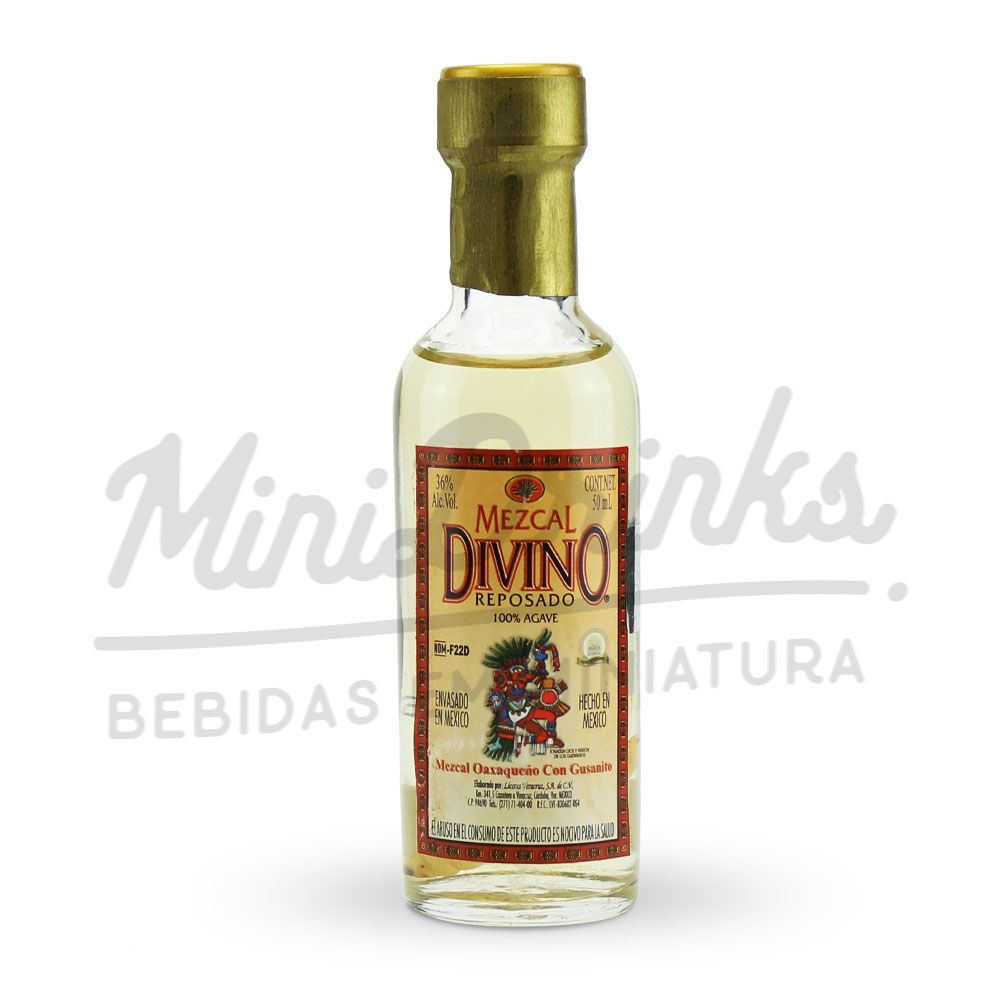 Mini Tequila Mezcal Divino Reposado 50ml