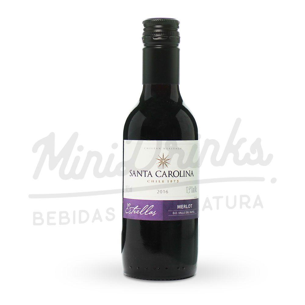 Mini Vinho Santa Carolina Estrellas Merlot 187ml
