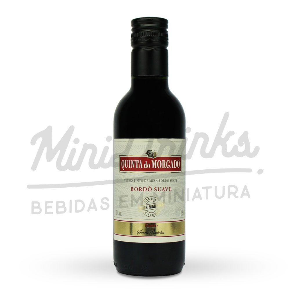 Mini Vinho Tinto de Mesa Quinta do Morgado Bordô Suave 245ml