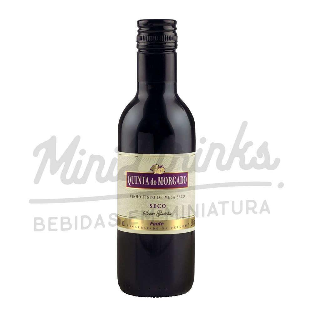 Mini Vinho Tinto de Mesa Quinta do Morgado Seco 245ml