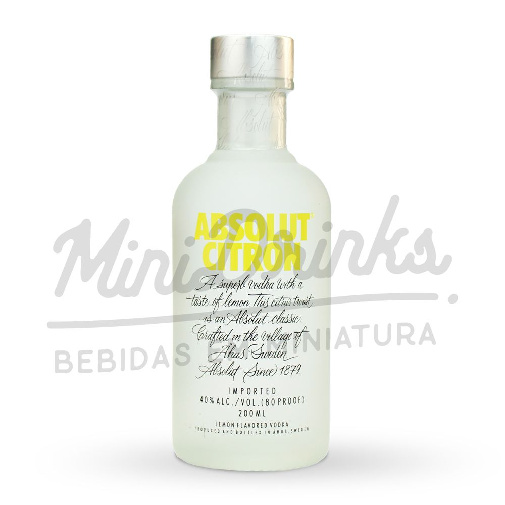 Mini Vodka Absolut Citron 200ml
